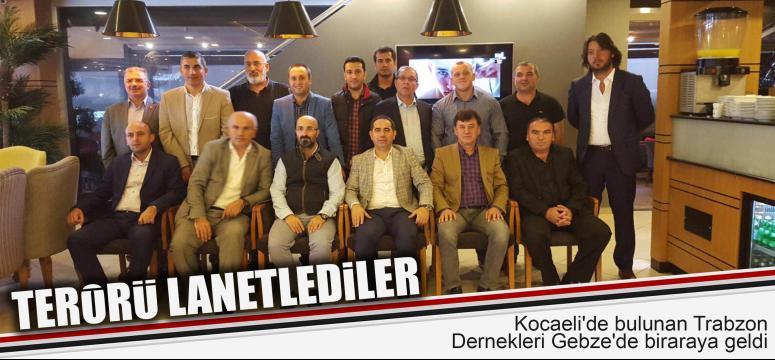 Trabzonlular terörü hep beraber lanetledi