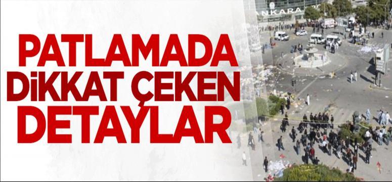 Ankara'da ki patlamada dikkat çeken detaylar