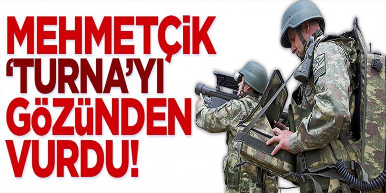 Mehmetçik 'Turna'yı gözünden vurdu