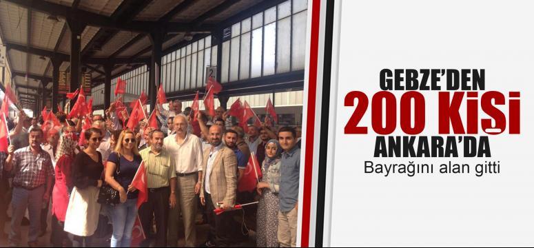 Gebze'den Ankara çıkarması