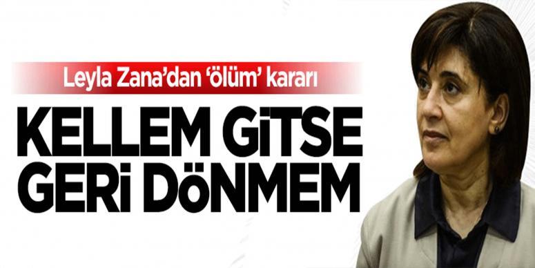 Leyla Zana'dan 'ölüm orucu' kararı