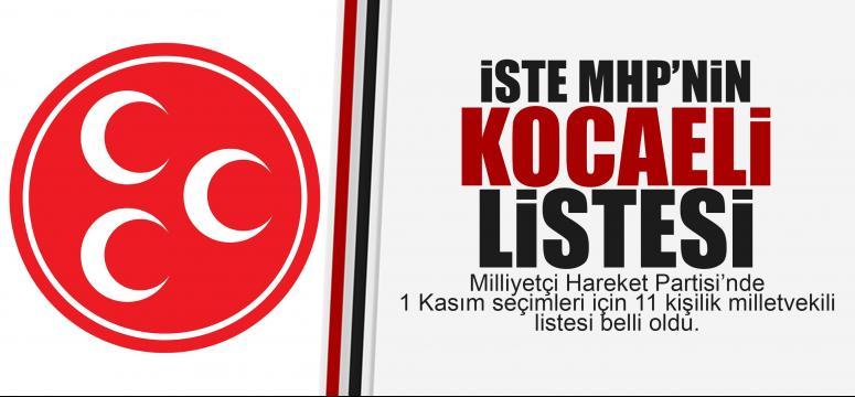 İşte MHP'nin Kocaeli listesi