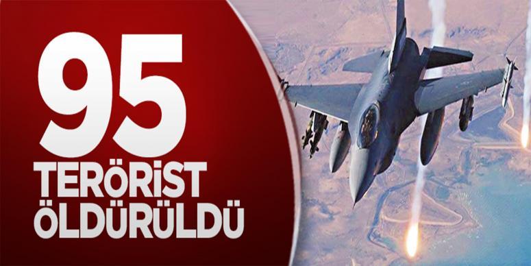 95 terörist öldürüldü