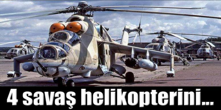 Rusya 4 savaş helikopteri teslim etti