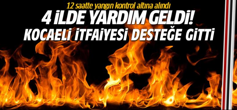 Kocaeli İtfaiyesi Bursa'da ki yangına gitti