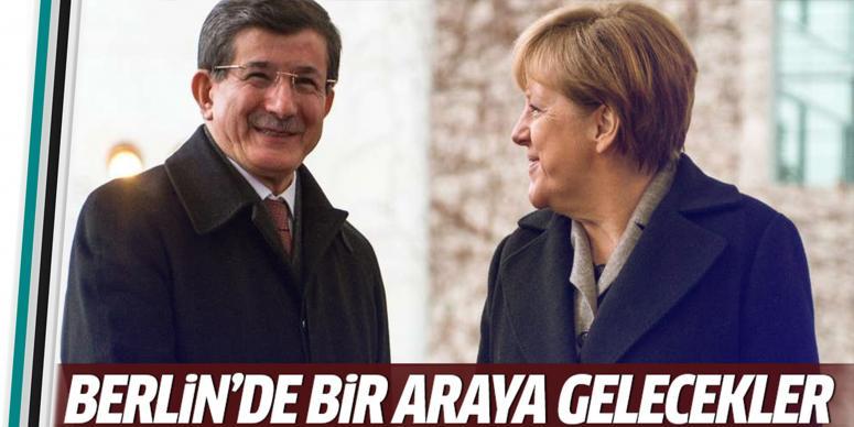 Davutoğlu, Merkel ile bir araya gelecek