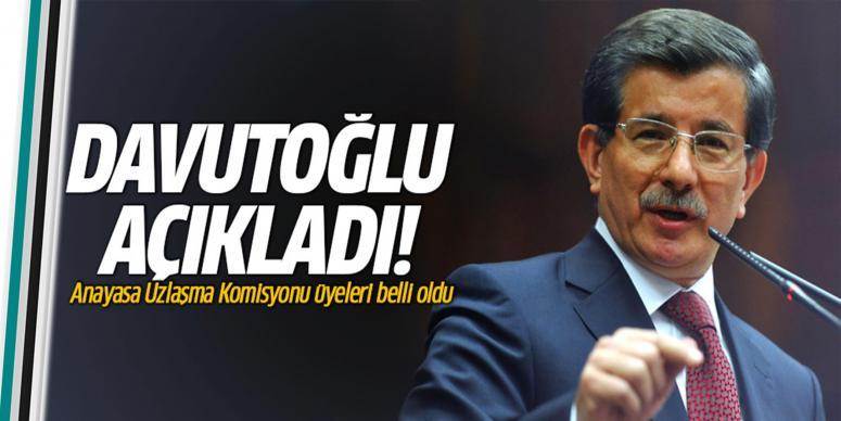 Davutoğlu komisyon üyelerini açıkladı