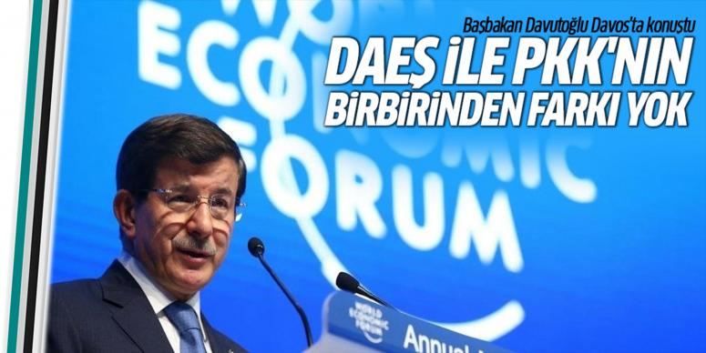 Başbakan Davutoğlu DAVOS'ta konuştu