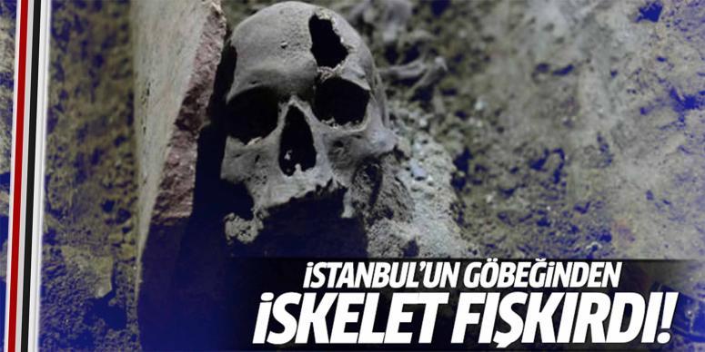İstanbul'un göbeğinden iskelet fışkırdı