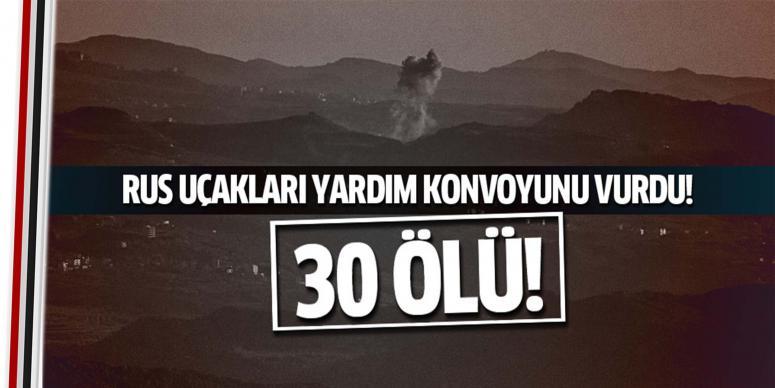 Türkmenlere yardım konvoyuna alçak saldırı: 30 ölü