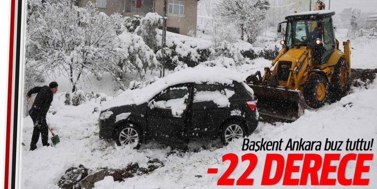 Ankara buz tuttu! -22 derece