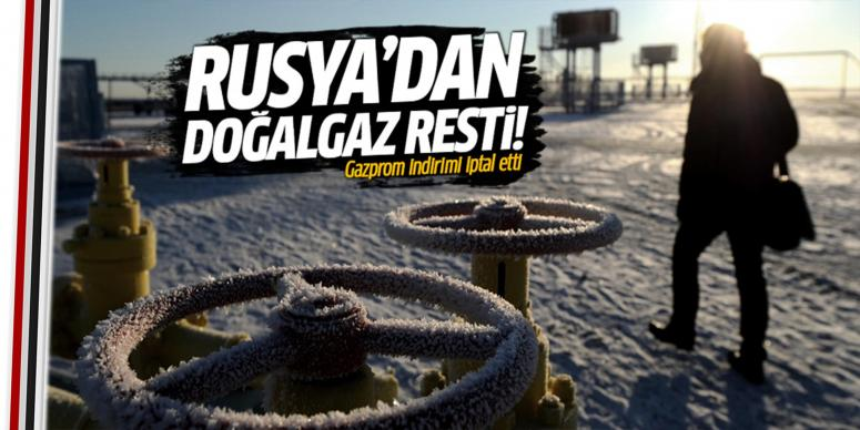 Rusya'dan doğalgaz resti