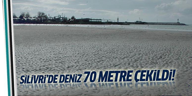 Deniz yaklaşık 70 metre çekildi