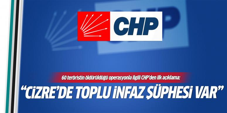 CHP'den Cizre'deki operasyonla ilgili açıklama