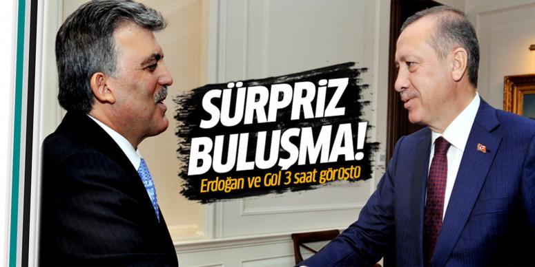 Erdoğan ve Abdullah Gül 3 saat görüştü