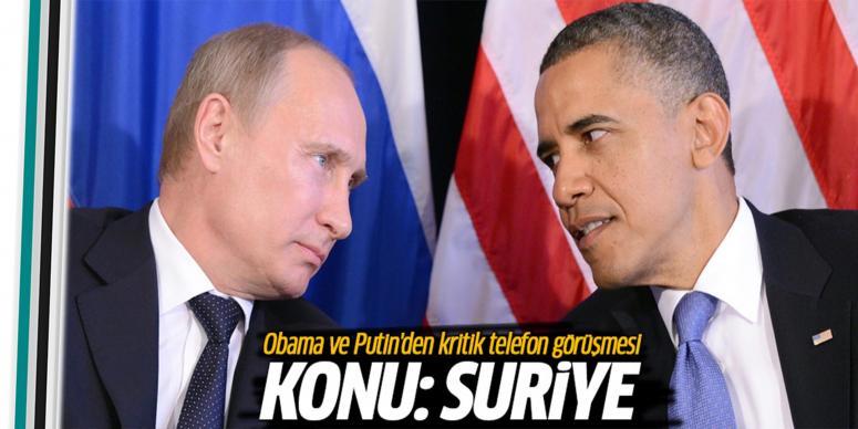 Obama ve Putin arasında kritik görüşme!