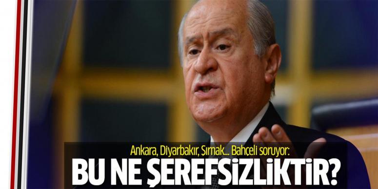 Bahçeli'den Ankara, Diyarbakır ve Şırnak açıklaması