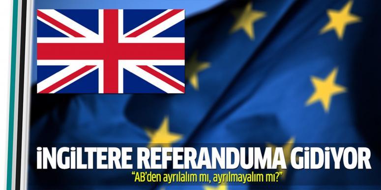 İngiltere 'AB' için referanduma gidiyor