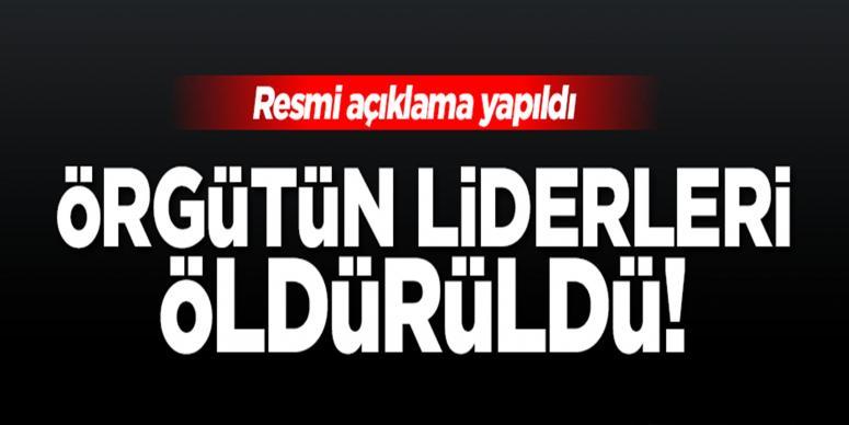 'DAEŞ liderleri öldürüldü!'