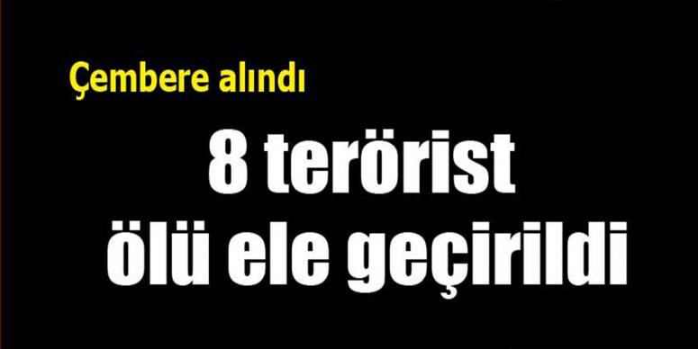 8 terörist etkisiz hale getirildi