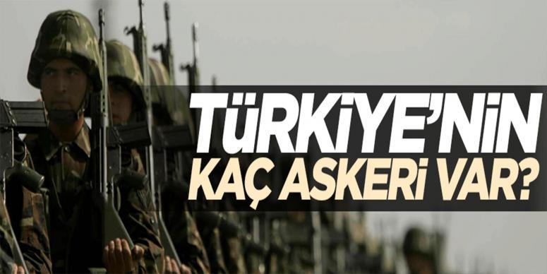 Genelkurmay Başkanlığı toplam asker sayısını açıkladı
