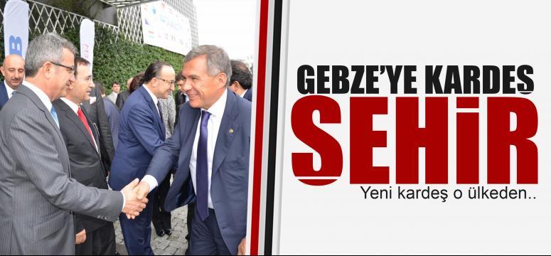 Gebze'ye Tataristan'dan kardeş şehir