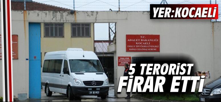 5 terörist cezaevinden firar etti
