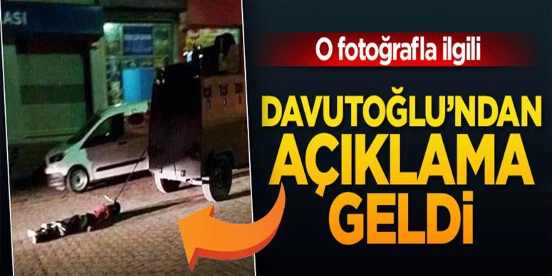 Davutoğlu'ndan o fotoğrafla ilgili açıklama