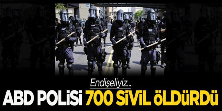 ABD polisi 700 sivili öldürdü