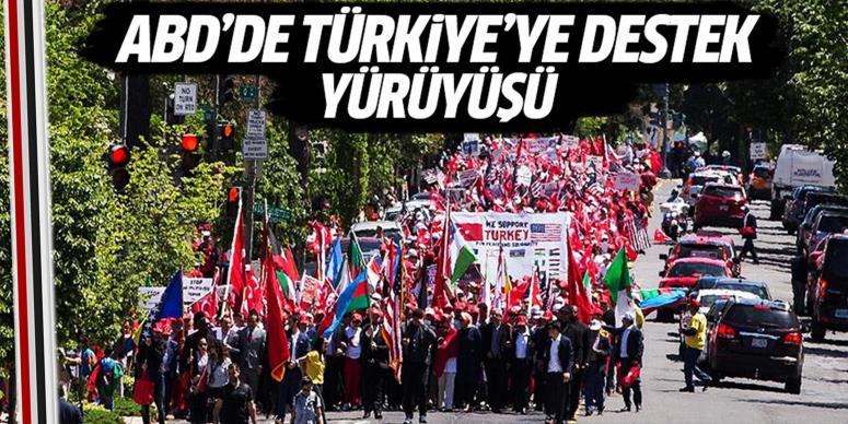 Türkiye'ye destek yürüyüşü düzenlendi