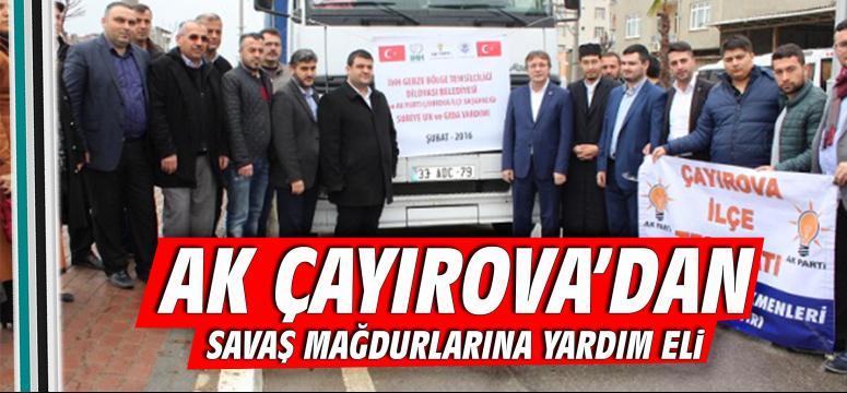 Ak Çayırova' dan savaş mağdurlarına yardım eli