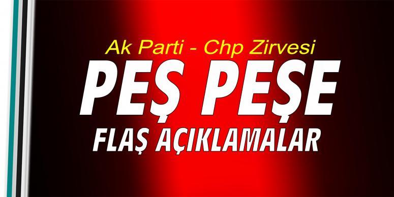 AK Parti CHP zirvesinin ardından ilk açıklama geldi