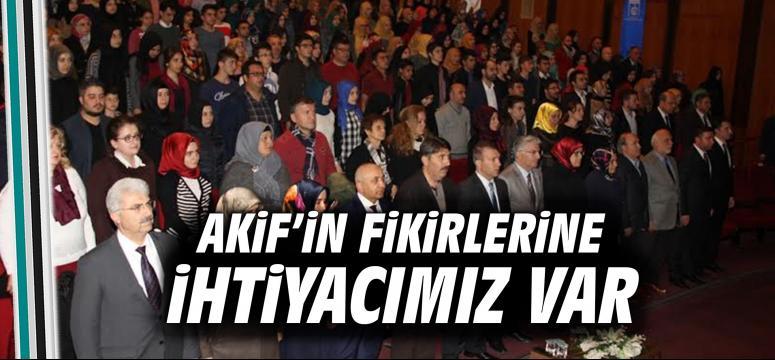 İstiklal Marşı'nın 95. Yılı Akif'in şiirleriyle anıldı