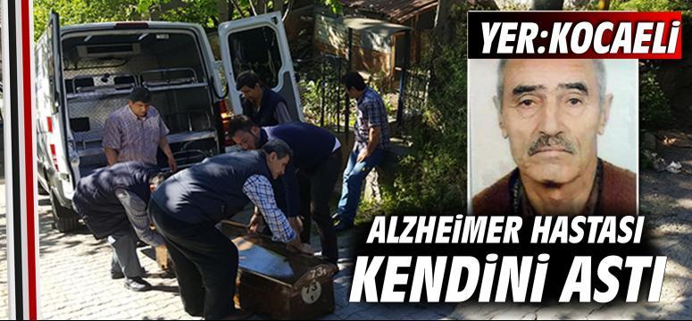 Alzheimer hastası kendini astı
