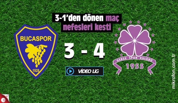 Bucaspor Gebzespor maçı nefes kesti: 3-4