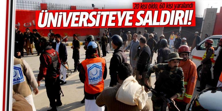 Saldırganlar üniversiteyi bastı