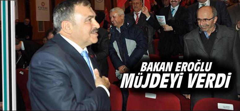Bakan Eroğlu müjdeyi verdi