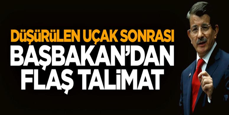 Başbakan Davutoğlu'ndan flaş talimat