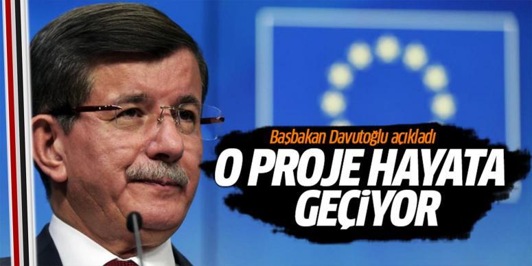Başbakan Davutoğlu'ndan müjde!