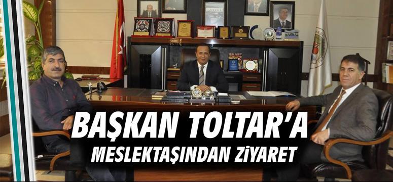 Başkan Toltar'a meslektaşından ziyaret