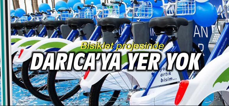 Bisiklet projesinde Darıca'ya yer yok