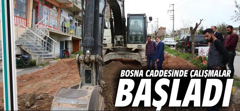Bosna Caddesinde Çalışmalar Başladı
