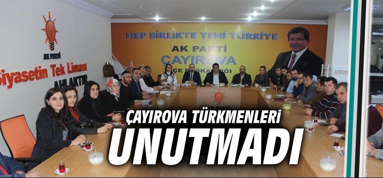 Çayırova Türkmenleri unutmadı