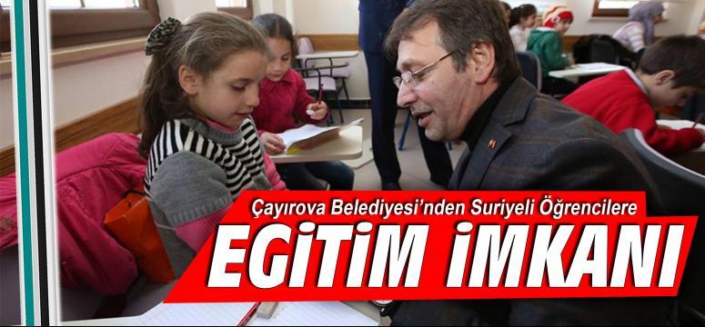 Çayırova Belediyesi'nden Suriyeli Öğrencilere Eğitim İmkanı