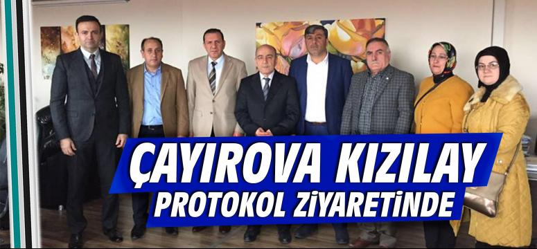 Çayırova Kızılay Protokol Ziyaretinde