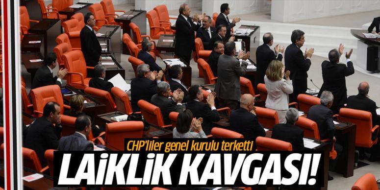 CHP'liler Meclis'i terk etti
