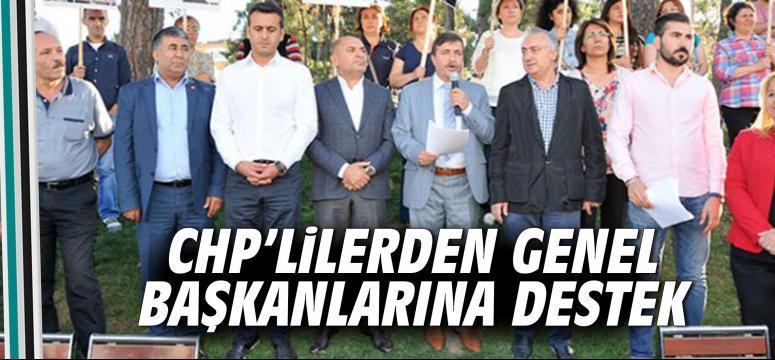 CHP'lilerden genel başkanlarına destek