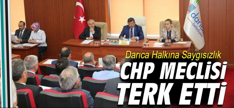 CHP Meclisi Terk Etti