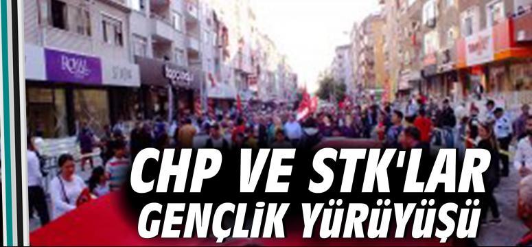 CHP Ve STK'lar Gençlik Yürüyüşü