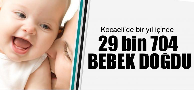 Kocaeli'de bir yılda 29 bin 704 doğum oldu